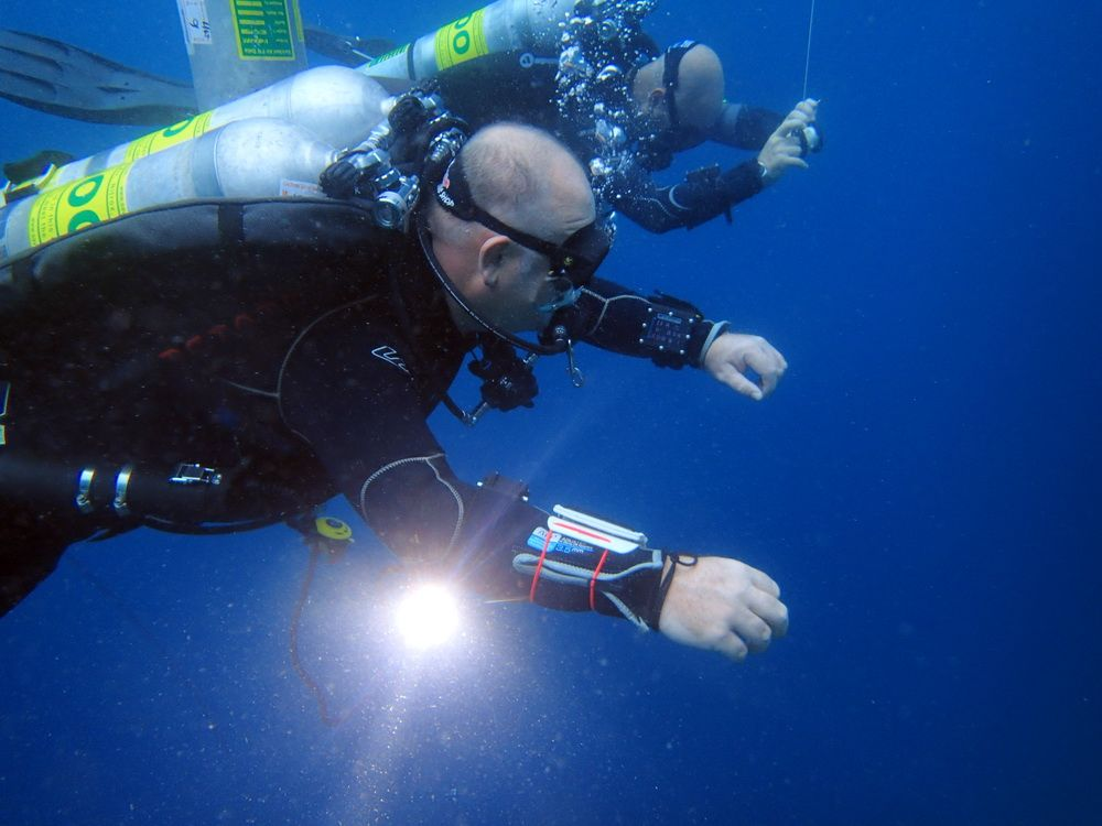 Technical Diver on Training Dive in Moalboal, Cebu