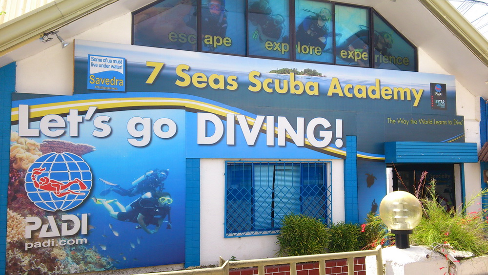 Savedra Dive Center in Moalboal, Cebu, Philippines