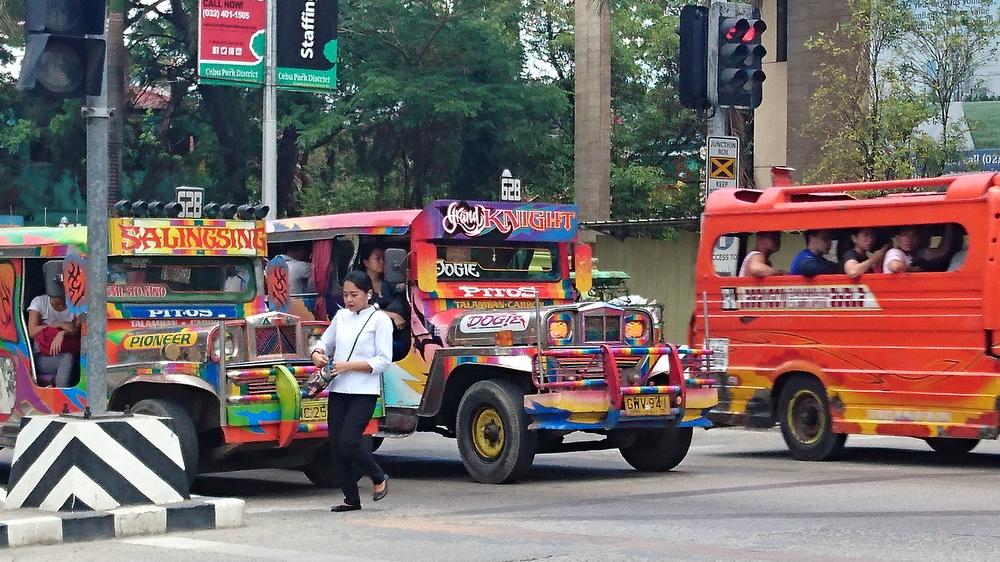 Cebu City - Jeepneys in uptown Cebu